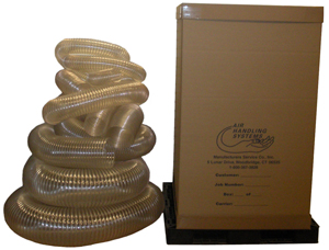 Flexible hose shipped in carton - 25' 10U30-C, 15' 08U30-C15, 15' 06U30-C15 15' 04U30-C15 Shipping carton 36